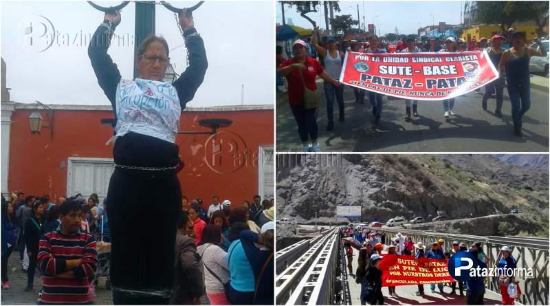 LA LIBERTAD | Maestros patacinos se encadenan en la huelga en Trujillo