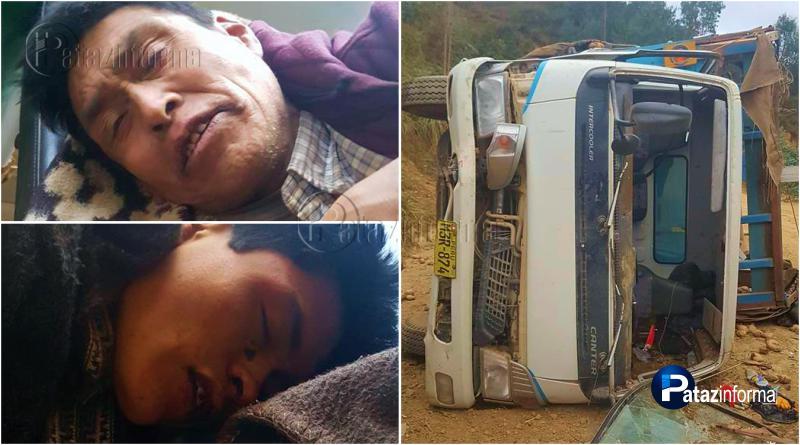 LA LIBERTAD | Camión se vuelca y deja 02 heridos graves en la sierra