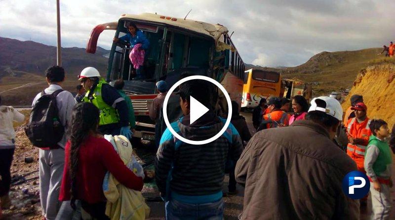 LA LIBERTAD | Choque deja varios heridos en vía al interior del ande