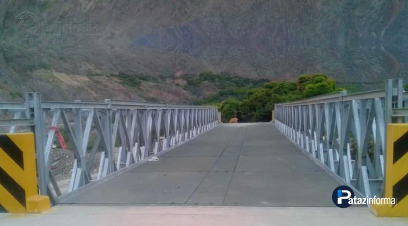 LA LIBERTAD | Instalan puente acrow en vía Retamas – Huamachuco