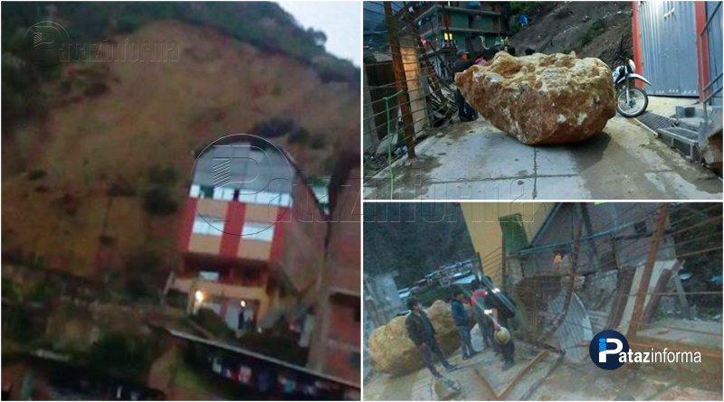 PARCOY | Pobladores en zozobra por caída de una enorme piedra
