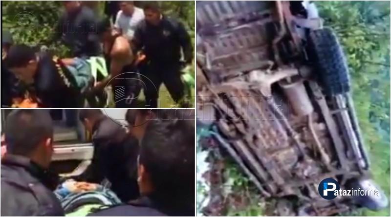 LA LIBERTAD | Camioneta cae a un abismo dejando 4 heridos graves