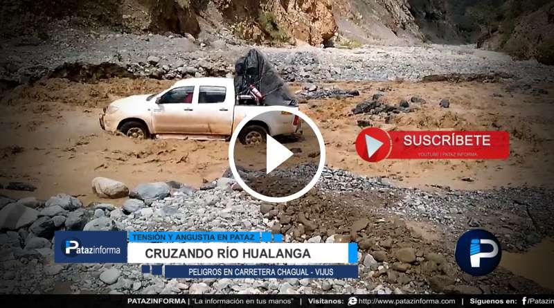 PATAZ | Camioneta salva de milagro, casi es arrastrado al Marañón