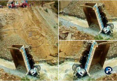 PARCOY | Accidente de tránsito, Volquete se despistó hasta el río