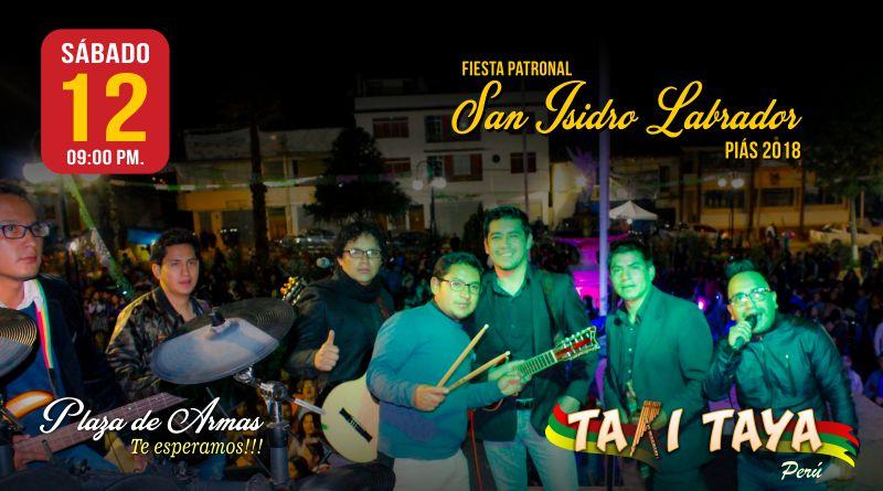 takitaya-concierto-fiesta-patronal-san-isidro-labrador-pias-2018