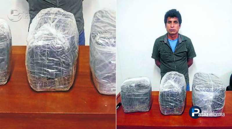 LA LIBERTAD   Sujeto cae con marihuana trasladada de Parcoy – Pataz