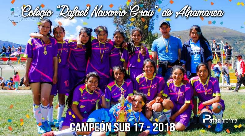 DEPORTES | Colegio Alpamarca campeón provincial fútbol femenino