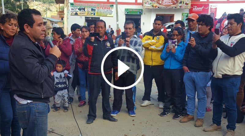 TAYABAMBA | Alcalde provincial agradeció por el apoyo tras secuestro