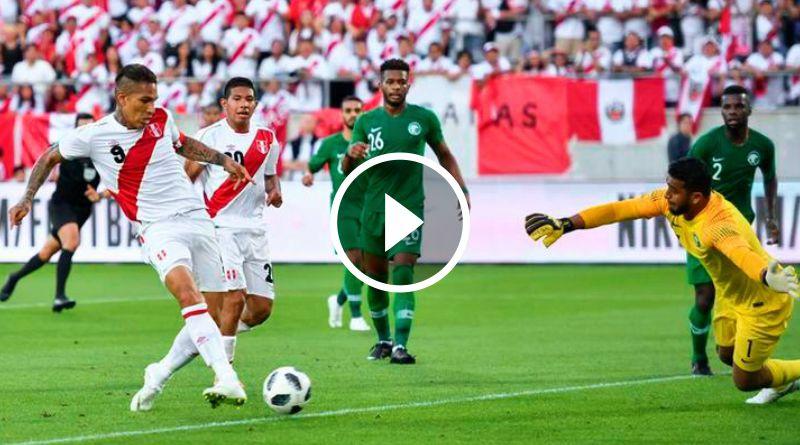 DEPORTE | Con goles de Paolo y Carrillo, Perú ganó 3 – 0 a A. Saudita