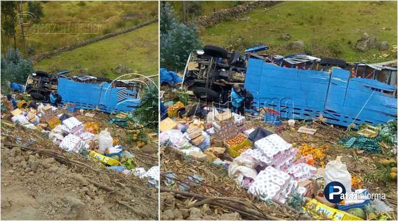 LA LIBERTAD   Camión cargado de abarrotes sufre accidente en el ande