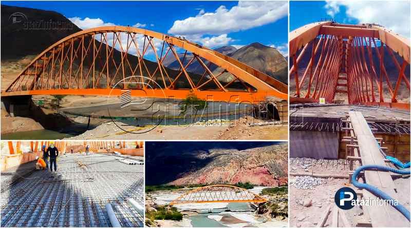 PATAZ   Avanzan trabajos en puente Antonio Raimondi sobre río Marañón