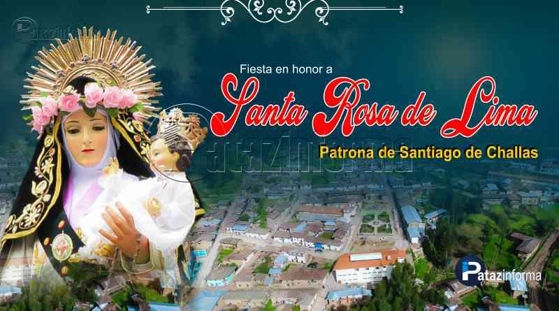 CHALLAS   Fieles devotos celebrarán su fiesta a Santa Rosa de Lima 2018