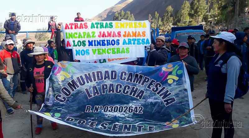 BULDIBUYO   Pobladores llevan 6 días en pie de lucha contra Cía. Caravelí