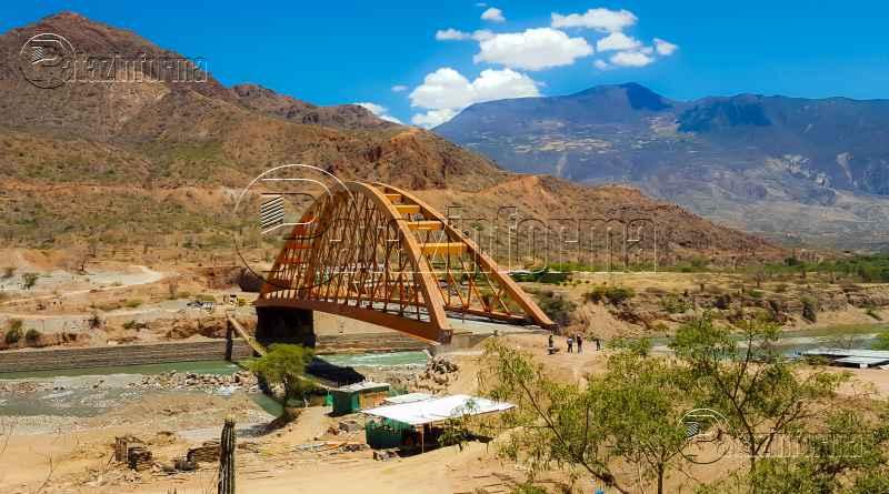 avanzan construccion puente antonio raimondi sobre rio maranon