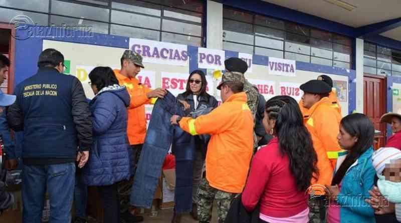 LA LIBERTAD | Fiscalía realizó campaña de atención y donó ropa contra friaje