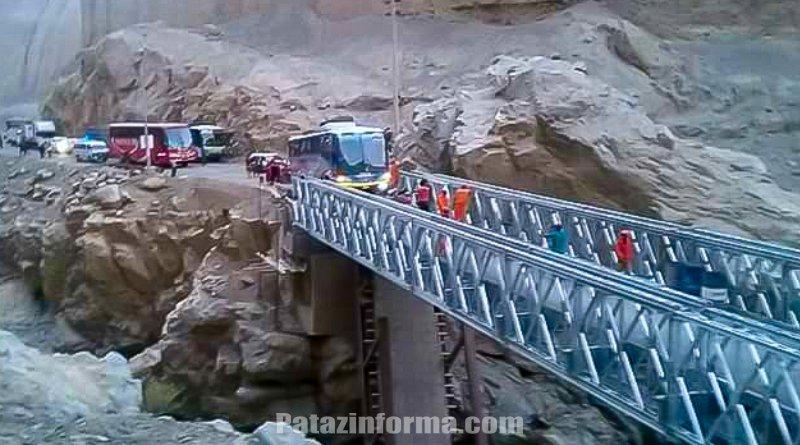 Habilitan pase en puente Chuquicara – Ancash
