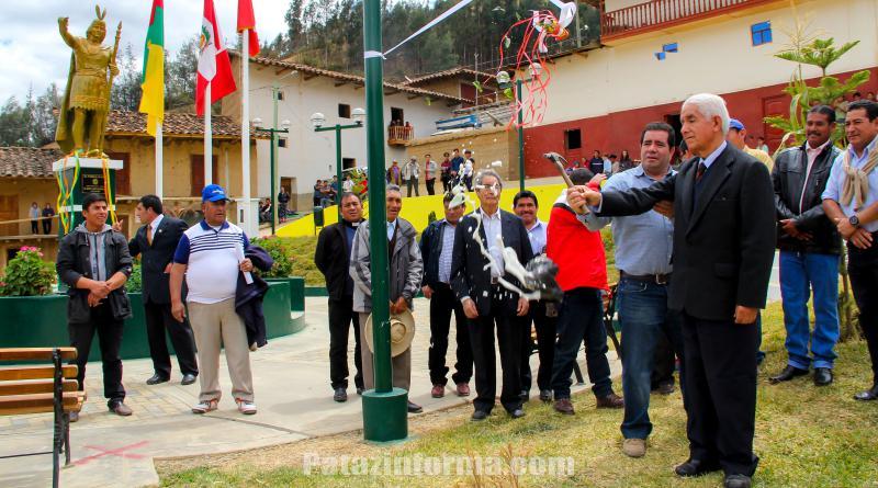 Inauguran moderna Plaza de Armas de Huancas