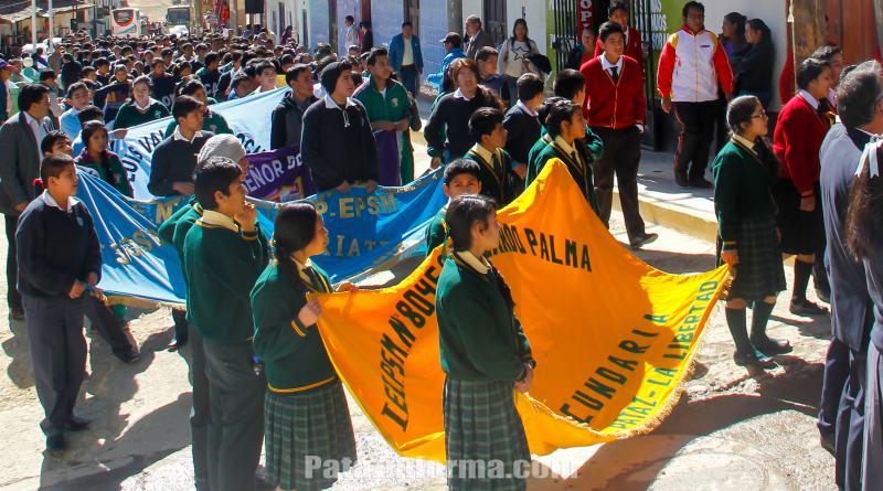 Centenares de estudiantes patacinos participan de ONEM
