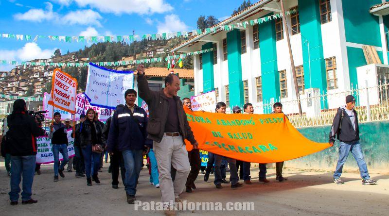 Pobladores de Cochacara piden reposición de médico