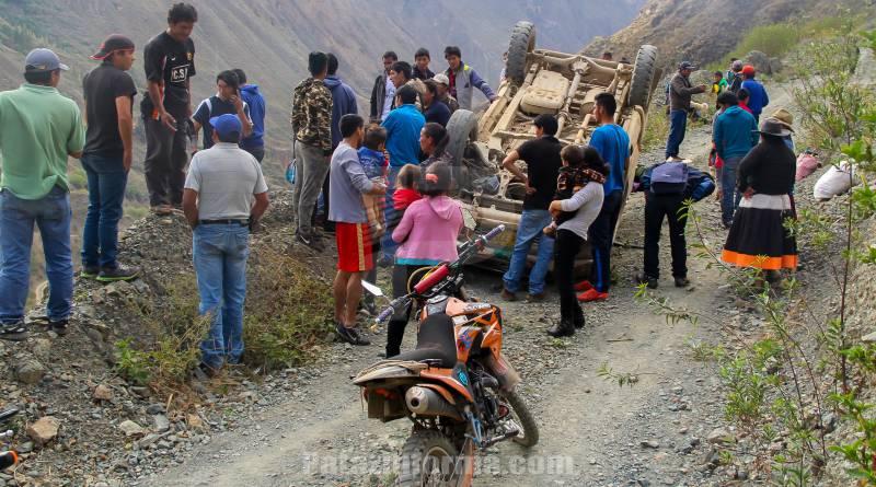 Accidente de tránsito en Huaylillas deja un hombre herido