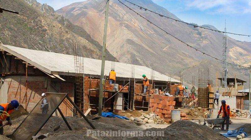 """Continúa la construcción de la I. E. nivel inicial """"Rayitos de Sol"""" en Huaylillas"""