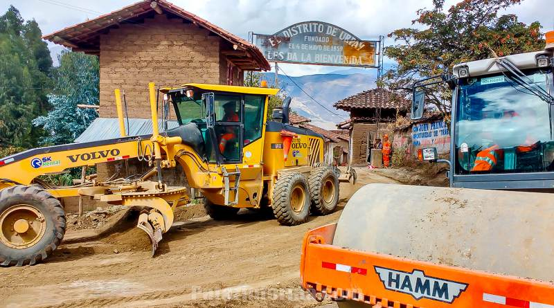 Continúa mantenimiento de corredor vial que surca Pataz