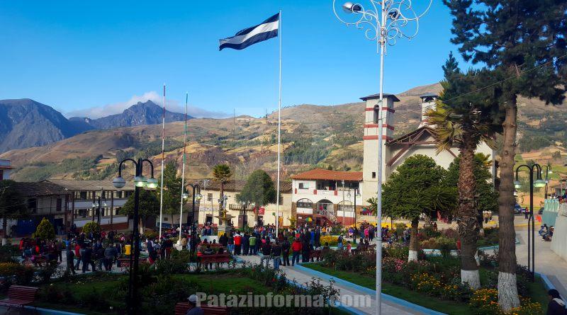Con izamiento de gallardete inició fiesta en honor a San Martín de Porres en Tayabamba
