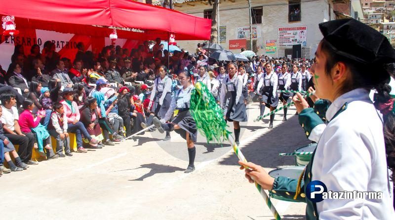 Con desfile cívico inició celebración del XXVIII aniversario de la UGEL Pataz