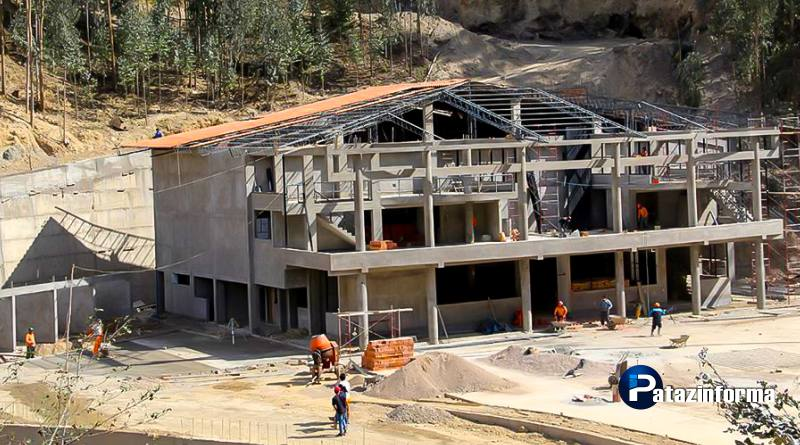 Continúa construcción del terminal terrestre sector Chagualito en Tayabamba
