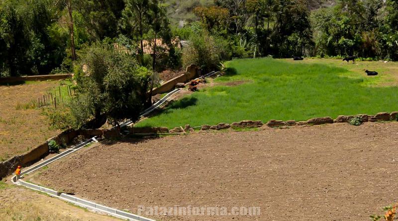 Mejoramiento del canal de riego de Chungana con un avance del 40%