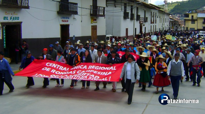 Ronderos anuncian paro por contaminación ambiental de empresas mineras