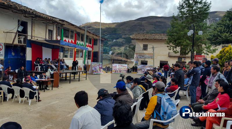Tayabamba fue escenario del primer cabildo abierto gestión 2015 – 2018