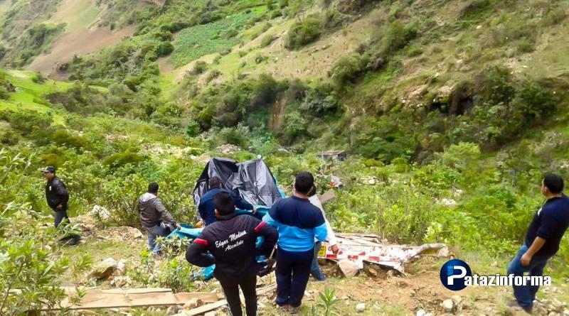 Camión que se dirigía a Pataz cae a abismo y deja como saldo un muerto