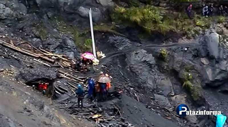 Un muerto y tres heridos dejó derrumbe de una mina informal por lluvias