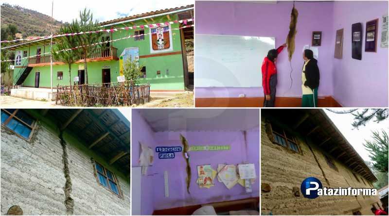 Emergencia en Collay, colegio Antonio Raimondi en mal estado y por colapsar