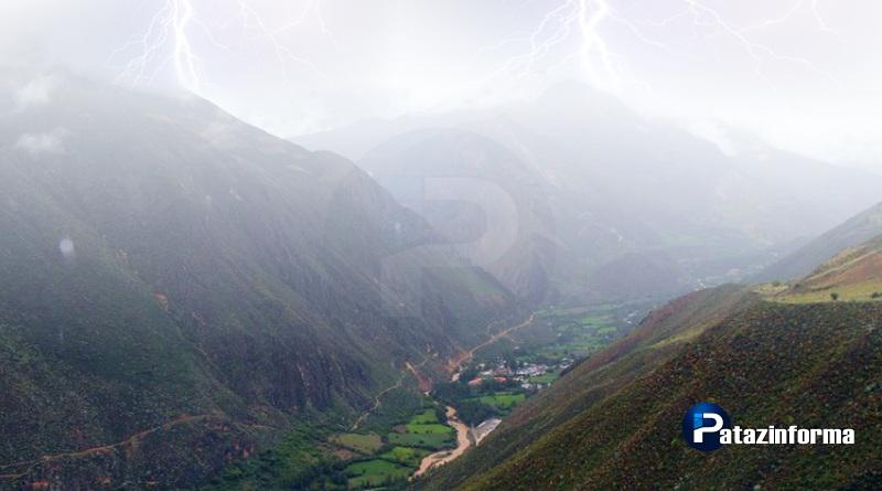 Anuncian 5 días de lluvias con descargas eléctricas en la sierra de La Libertad