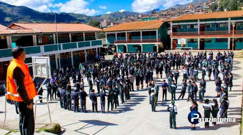 PATAZ | Más de 14 mil estudiantes participaron del II Simulacro Escolar