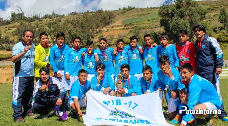 TAYABAMBA   Colegio de Llacuabamba campeón provincial fútbol Sub 17