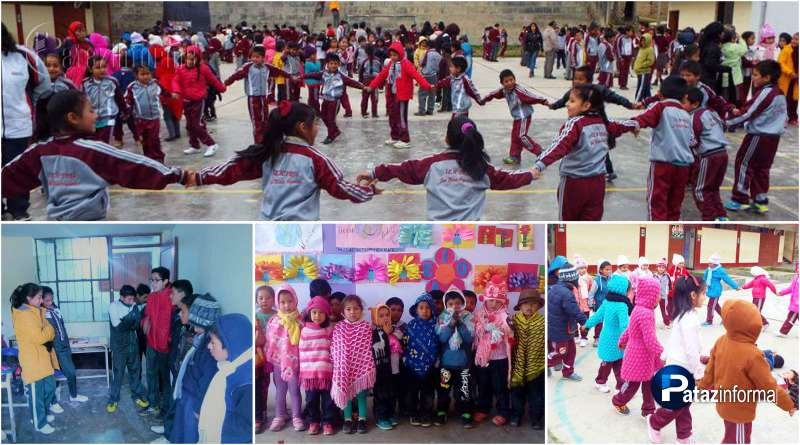 PATAZ | Escolares participaron de III simulacro escolar por heladas y friaje