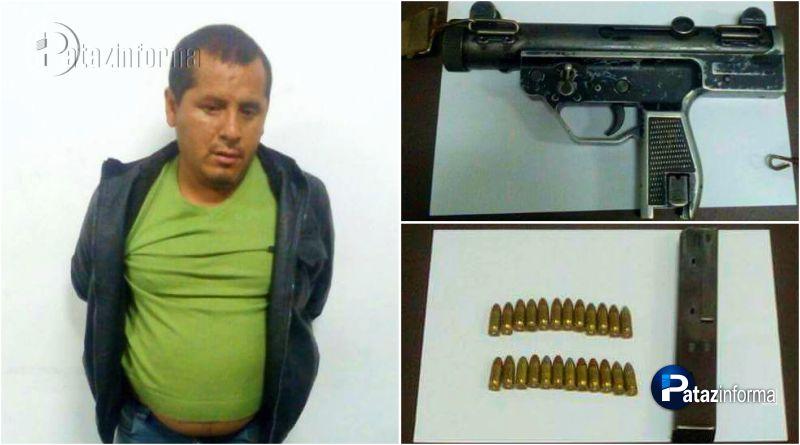 PARCOY | Sujeto fue intervenido portando arma y municiones en operativo