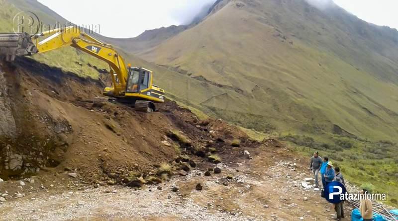 HUAYLILLAS | Reinician construcción de vía que unirá con distrito de Ongón