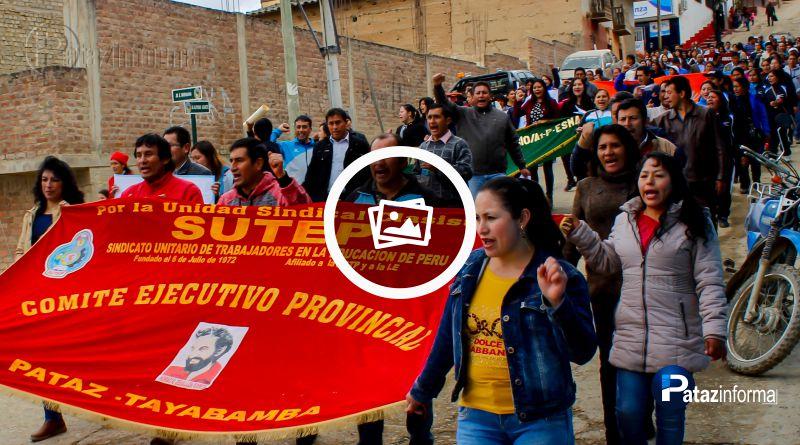 TAYABAMBA   Magisterio patacino se sumó a huelga nacional indefinida