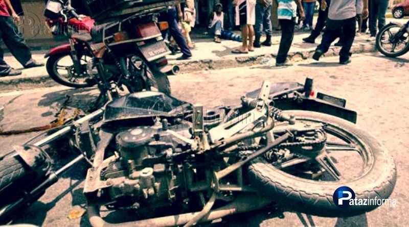 TAYABAMBA   Médico quedó grave tras choque de motos en Antacolpa
