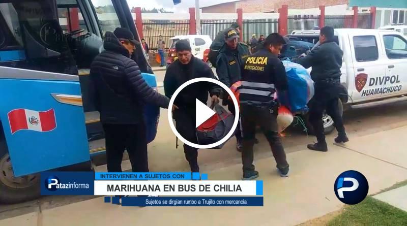 LA LIBERTAD | Detienen a 02 sujetos con marihuana en bus de Chilia