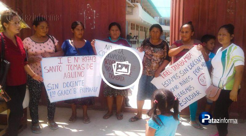 PATAZ | Padres piden cambio de docente en Vijus por incumplimiento