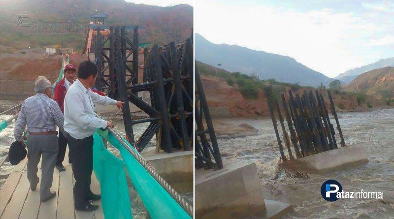 TAURIJA | Crecida de río afectó el lanzamiento de Puente Raimondi