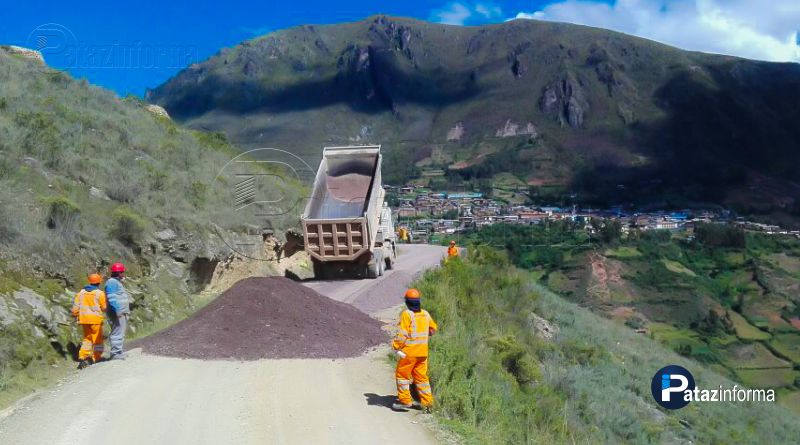 PATAZ | Inician trabajos para asfalto vía Huancaspata – Mamahuaje