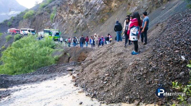 PATAZ | Piden intervención en carreteras por temporada de lluvias