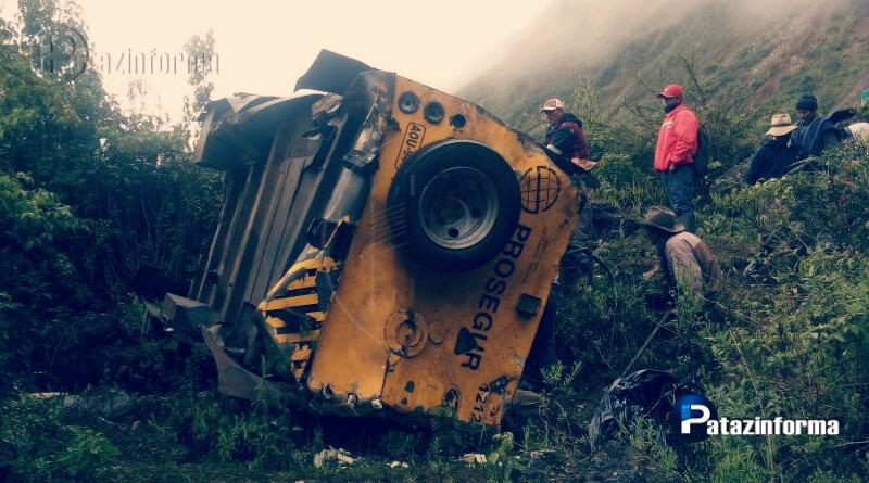 PATAZ | Vehículo de Prosegur cae a un abismo dejando 4 muertos