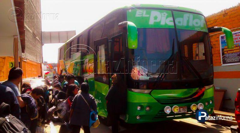 "TAYABAMBA | Asaltan bus ""El Picaflor"" que viajaba rumbo a Trujillo"